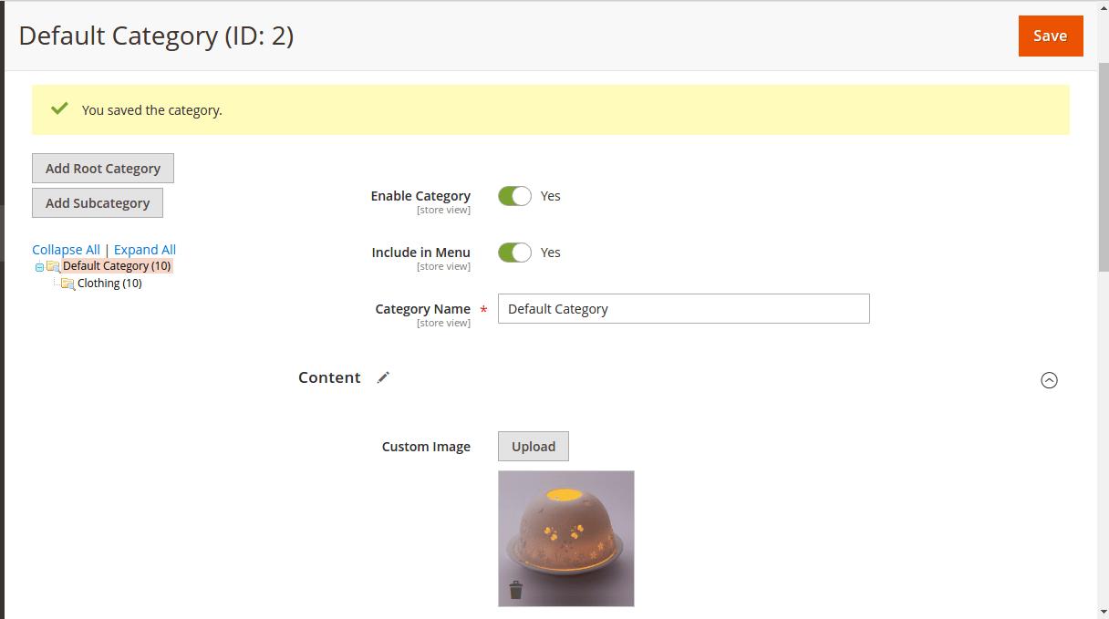 Добавить атрибут изображения в категорию в Magento 2